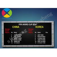 China Pixel Pitch 10mm Led Electronic Scoreboard 100000 Hours Long Life Span on sale