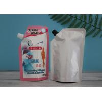 China Leak Proof Laundry Detergent Liquid Spout Pouch Custom Built / Spout Top Doypack for sale
