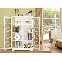 Wholesale Natural Wood White Bookcase With Doors , Safely Store Your Favorites from china suppliers