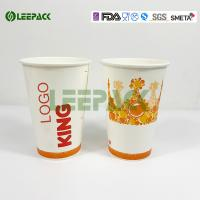 Wholesale Red Pepsi Drink Cold Paper Cups For Cinema , Food Grade Ink Printing from china suppliers
