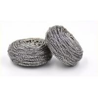 Wholesale Round Shape Stainless Steel Scourer , Steel Scouring Pad With Comfortable Handfeel from china suppliers
