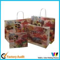 Fancy design Customized brown Gift Packaging Kraft Paper Bags for sale