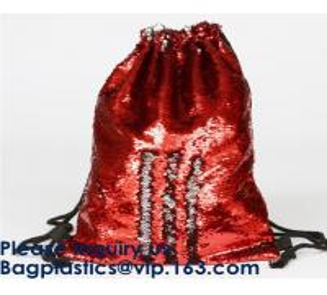 China Amazon Hot Sale Magic Mermaid Reversible Sequin Drawstring Bag, Wholesale Polyester Custom LOGO Sequin, Sequins, Paillet on sale