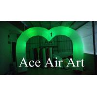 wonderful changing colorful led heart shape inflatable arch decoration for