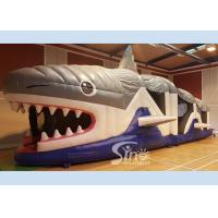 Wholesale Giant Kids And Adults Inflatable Shark Obstacle Course With EN14960 Certificate from china suppliers
