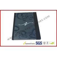 Black Drawer Luxury Gift Boxes Foil  Logo In Silver With PVC Sleeve for sale
