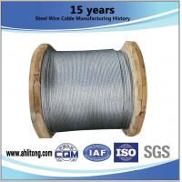 China ASTM A 475 EHS 1 4 Inch Galvanized Cable Stiffness With Wooden Reel Packing on sale