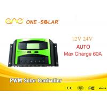 Solar Charger Controller 12v/24v 60a pwm solar controller  24V solar charger for sale