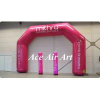 Wholesale beautiful pink logo printed adverting arch inflatable with pillar,inflatable event arch for sale from china suppliers