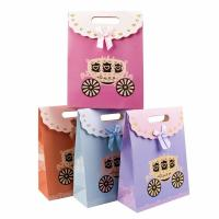 China Cute Colorful Cardboard Bag 230g White Cardboard Material Customized Size for sale