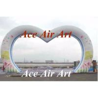 Wholesale custom giant wedding decorative inflatable heart arch with flower printing for sale from china suppliers
