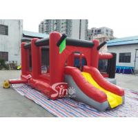 Quality Commercial outdoor kids red combos with slide for amusement park from Sino for sale