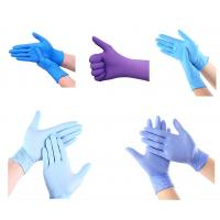 Wholesale Finger Textured Powder Free Nitrile Examination Gloves Customized Weight from china suppliers