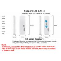 Unlocked Huawei E8372 E8372h 150Mbps 4G Black or White  Wifi USB Modem LTE Wifi Dongle Support 10 Wifi Users  4G Dongle for sale