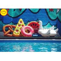 Best PVC Inflatable Adult Swimming Ring PVC Swim Rings For Donut Float Summer Water Sport Inflatable Donut Pool Floats wholesale