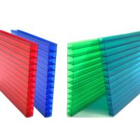 Wholesale 16mm Fourwall Colored Hollow Polycarbonate Sheet Ten Years Guarantee from china suppliers
