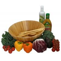 Wholesale Dishwasher Safe Durable Bamboo Serving Bowl , Wooden Salad Mixing Bowl from china suppliers