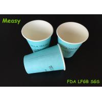 Wholesale 12OZ Teal Color Hot Paper Cups With Black Letter Printings , Takeaway Coffee Cup from china suppliers