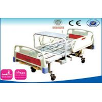 China Emergency Use Adjustable Hospital Beds With Dinner Table , ABS Side Rails on sale
