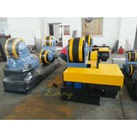 Best Yellow Self-Aligning Pipe Turning Rolls , 3KW Motor Drive Rubber Wheel wholesale