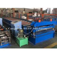 China Cold Steel Automatic Roll Forming Machine For Corrugated Roofing Panel PLC Control for sale