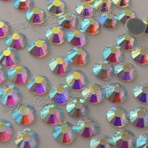 Wholesale Crystal AB MC Hot Fix Rhinestone Strass Wholesale Women Garment Bags Accesorries Gemstones HOTFIX Flat Back Rhinestones from china suppliers