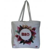 China Natural color Eco linen fabric personized printing Tote bag for sale