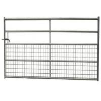 Wholesale Half Mesh Galvanized Faild Gate Portable Livestock Fence Panels For Farm from china suppliers