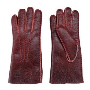 China Christmas Gift Stock Merino Lamb fur Shearling Sheepskin Gloves for Women on sale
