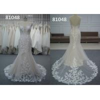 China Embroidery Appliques Vintage Lace Sweetheart A Line Wedding Dress Pure White Bridal Wear on sale