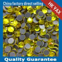 Wholesale lead free hot fix beads citrine color from china suppliers
