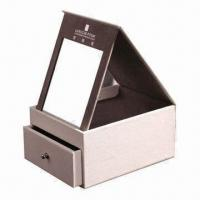 Cosmetic Gift Box, Made of PU Leather and Greyboard, with Mirror for sale