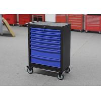 China 27inch Blue metal professional movable tool cabinet with seven drawers for sale