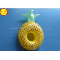 Best Pineapple Inflatable Pool Floats / Pool Toy Drink Holder 0.15mm Thickness wholesale