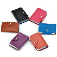 China hot sell cheap leather credit card holder slim pocket 26 cards holder Business Card Package PU Leather Bag for sale