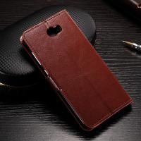 Wholesale Flexible Huawei Y6 Leather Case , Anti - Slip Crazy Horse Leather Wallet Case from china suppliers