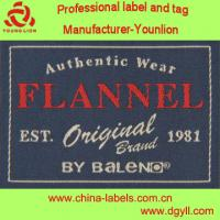 Wholesale approved by Oeko Tex standard woven label for fashion apparel collar main label from china suppliers