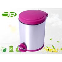 Hospital Colorful Foot Operated Bin Red Round  Stainless Steel
