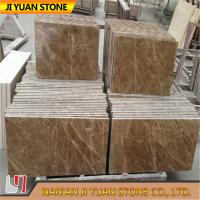 Spain Marble Stone Slab Light Emperador Tiles For Flooring , Wall Panel for sale