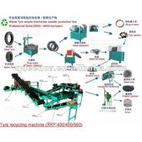 Best Crumb Rubber Tyre Recycling Machine/Rubber Tyre Strip Cutter/Rubber Powder Making Line wholesale