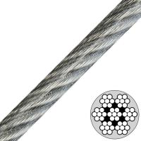 7x7 Coated Stainless Steel Wire Rope Twisted Flexibility Impact Resistance for sale