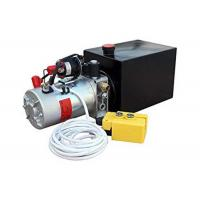 Wholesale CE certificate DC12v/24v hydraulic power unit with plastic oil tank manual valve from china suppliers