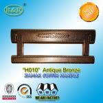 Best 20*8.4 cm size Zinc alloy metal coffin handles zamak coffin hardware H010 old bronze brass color wholesale