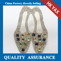 Wholesale D0930 Newest Custom lovely shoes Design Wholesale Rhinestone Applique For Garment from china suppliers