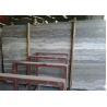 Beautiful Silver Travertine Floor Tile , Internal Silver Grey Stone Bathroom Tiles for sale