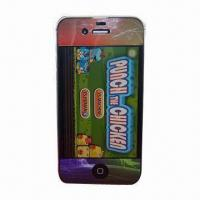Wholesale Color Screen Protector for iPhone 4, High-transparent, Anti-scratch, Washable and Reusable from china suppliers