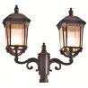 Red Brown Classic Decorative Outdoor Lighting Fixtures Garden Light Pole Lamp IP65 for sale