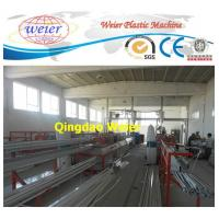 Best Door / Window PVC Profile Extrusion Line Rain Gutter Machine With Lamination Machine wholesale