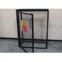 Wholesale Black Powder Coating Gas Cylinder Cages Flexible / Foldable Easy Install from china suppliers