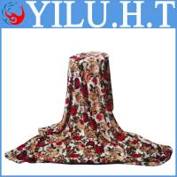 China polyester knitted and printed polyester blankets 100% polyester on sale